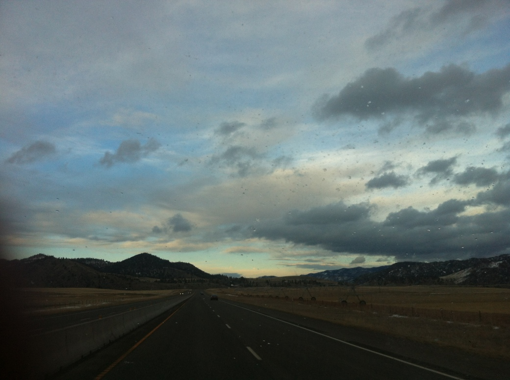 Driving through beautiful Montana.
