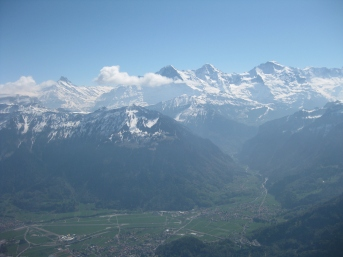 At level with the Swiss Alps