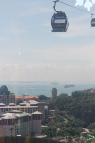 Going to Sentosa via Cable Car