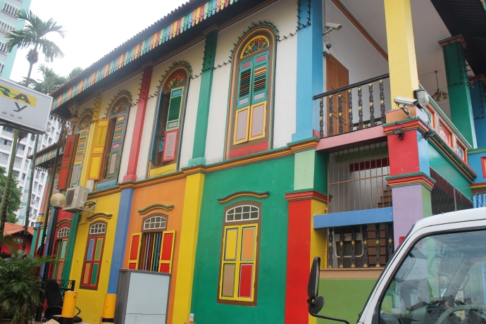 Little India's colourful buildings