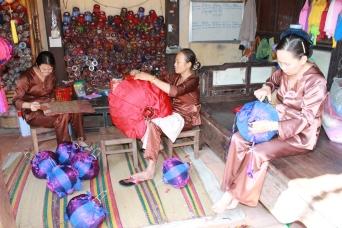 Lantern making at Hoi An