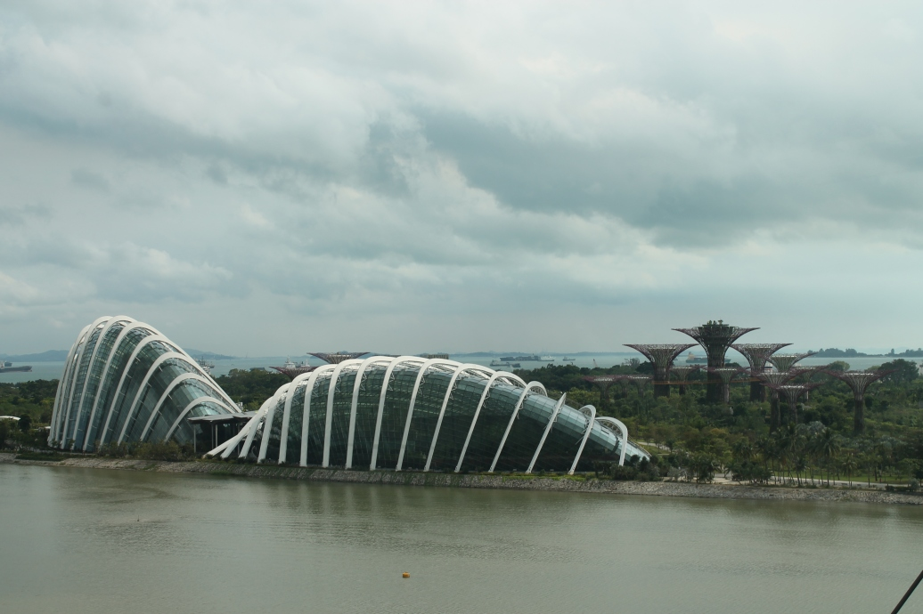Garden by the Bay from the Singapore Flyer, 2013