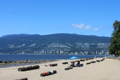 One of Stanley Park's beaches