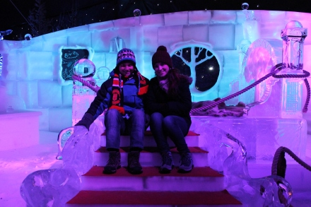 Sitting on an ice throne