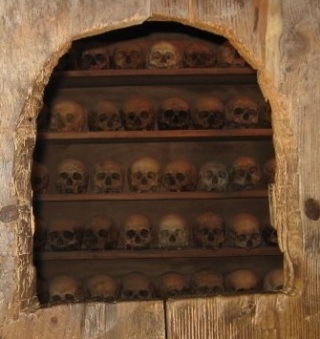 Skulls of past Monks